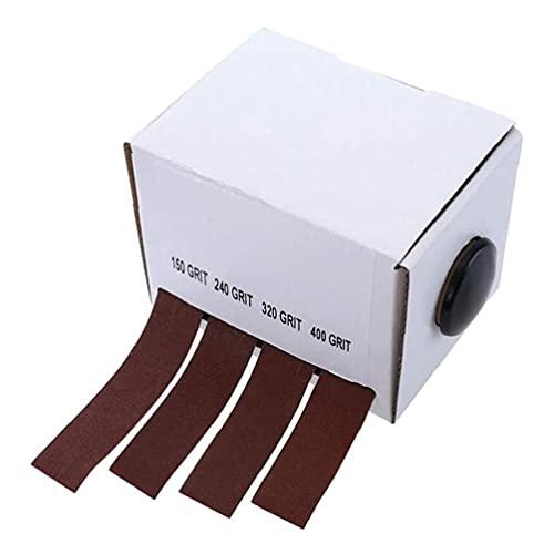 Emery Cloth rodillo de pulido molino rojo oscuro Herramientas Disponibles abrasivo Paquete para lijadoras de banda contorneada y la superficie curva, Accesorios para herramientas eléctricas