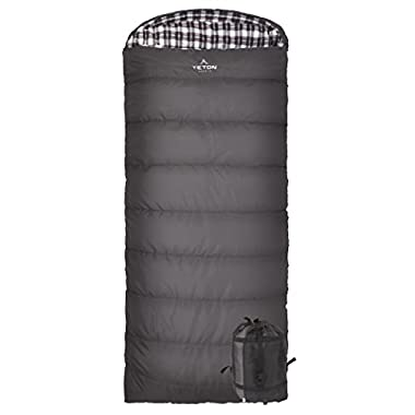 Teton Sports Fahrenheit XXL 0F Sleeping Bag; TETON Sleeping Bag Great for Cold Weather Camping; Lightweight Sleeping Bag; Hiking, Camping; Grey, Left Zip