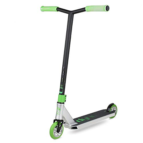 VOKUL Dyno pro Scooter Stunt Scooter Perfect for Intermediate Rider Freestyle Trick Scooter for Kids and Teenagers, Silver, 4.5x19.5inches