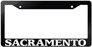 MicroToo License Plate Frame - Text Graphic Custom Personalized, 12.25