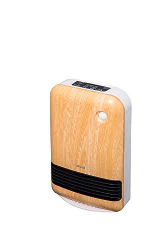 Iris Ohyama, Calentador de ventilador móvil con sensor de movimiento y temporizador, 1500 W - Ceramic Fan Heater JCH-15TD4 - L26 x W13.5 x H38.5 cm, madera