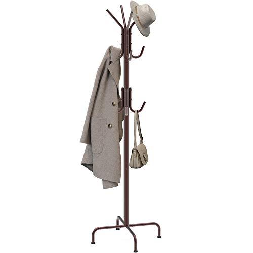 SimpleHouseware Standing Coat and Hat Hanger Organizer Rack, Bronze