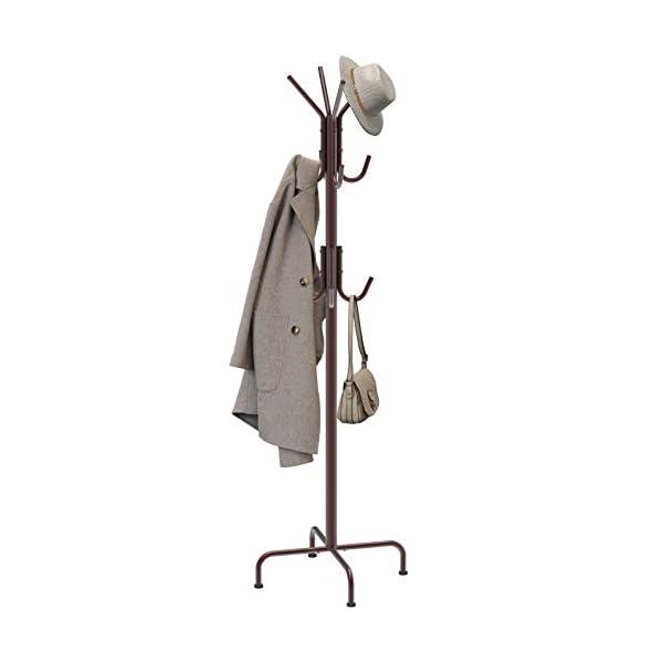 Simple Houseware Standing Coat and Hat Hanger Organizer Rack, Bronze