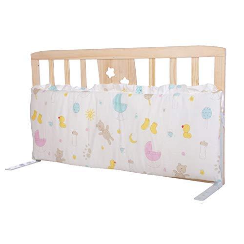 JLXJ Bettgitter Baby Holzbett Schienen mit Stoßstangen-Pads for Kinder Kleinkinder Baby, höhenverstellbar Tragbarer französischen Bett Anti-Fall-Kinder Leitplanke (Size : 98cm×55cm)