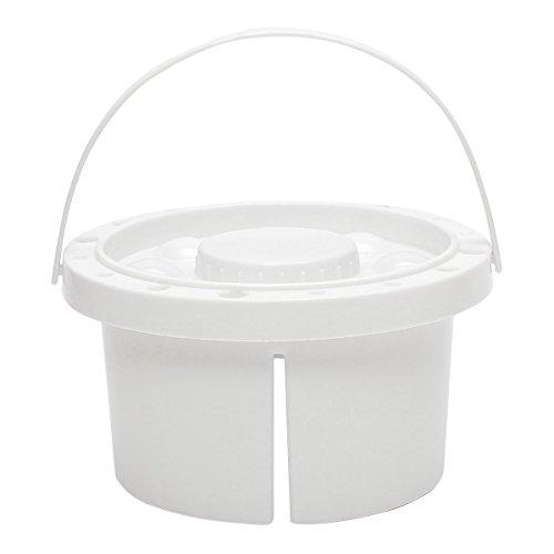 Wchaoen Pinsel-Reiniger-Palette Farbeimer Aquarell Öl Gesicht Paint Art Tub Halter Container Werkzeugzubehör