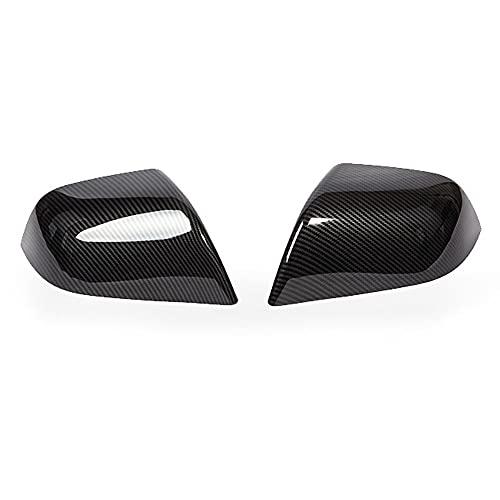 mewmewcat Tampa do espelho retrovisor Proteção do espelho retrovisor Shell de fibra de carbono Tampas do espelho modificação decoração compatível com Tesla modelo 3