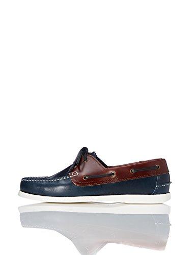 find. Zapatos Náuticos Hombre, Azul (Navy/tan), 42 EU
