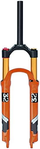 YLXD Horquilla Delantera de aleación de 26 27,5 29 Pulgadas, magnesio, Horquillas amortiguadoras de Bicicleta, Recorrido de 140 mm, Eje, Freno de Disco QR de 9 mm para Bicicleta MTB 26