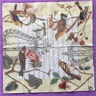 HXQCZ 20 vintage paper napkins tissue print birds tree flowers butterfly nest decoupage wedding party home table decor gua...