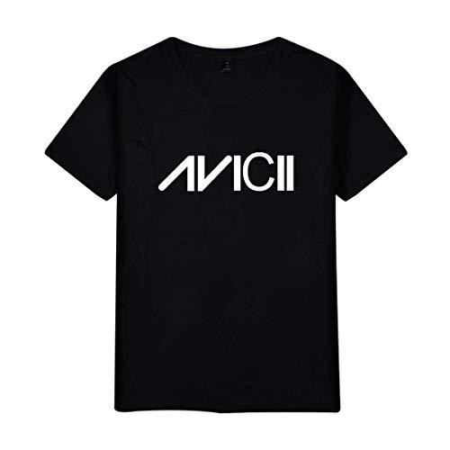 KJYAYA Unisex T-Shirt Tim Bergling Avicii Das Lässige Sommer-Kurzarmtop Ist Für Männer Und Frauen Geeignet