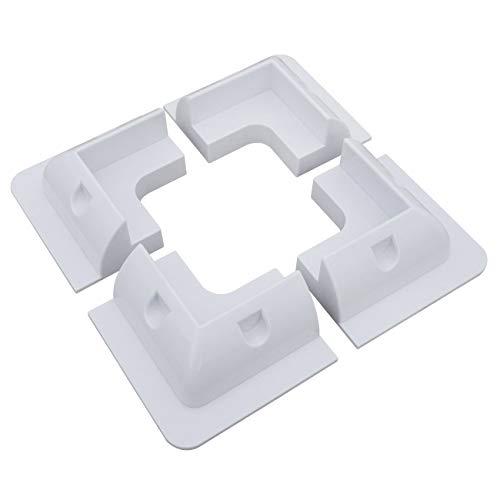 ECOWORTHY Soporte 4x para montaje en panel solar Kit esquina blanco, adhesivo, caravana