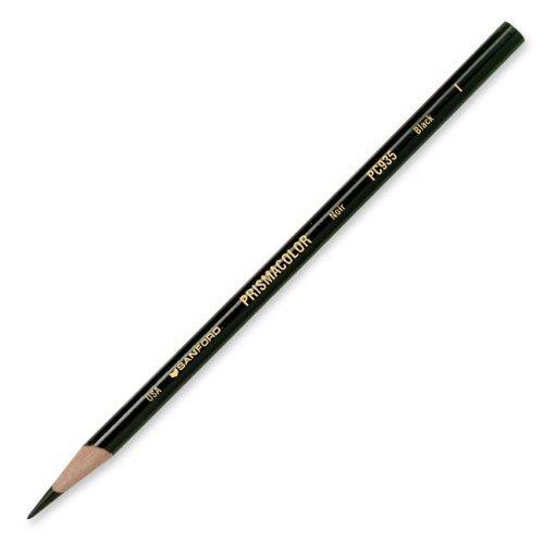 Prismacolor Premier Soft Core Colored Pencil, Black, (2-Pack of 12)