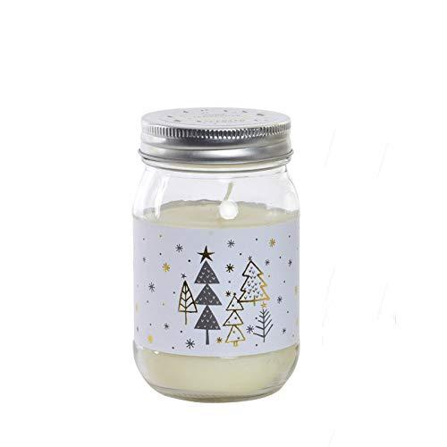 Hogar y Mas kaars van Kerstmis in een fles van glas. Ideaal voor de kersttijd. 3 kerstontwerpen verschillend van - B