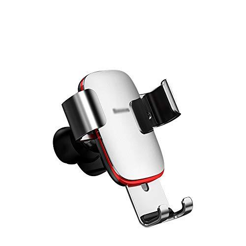 Soporte del teléfono Soporte for teléfono for automóvil, soporte de teléfono móvil multifunción de navegación por gravedad de metal ajustable, apto for teléfonos móviles de 4-6 pulgadas, cuatro colore