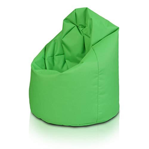 Bepouf Poltrona Sacco Puf Pouf Dimensioni 110x70 Poliestere Pieno (Verde, Media)