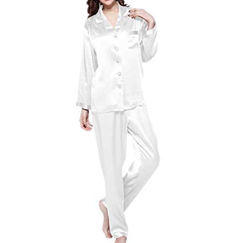 Damen-Schlafanzug-Set aus Seide, reine Momme, Nachtwäsche, natürliche volle Länge,...