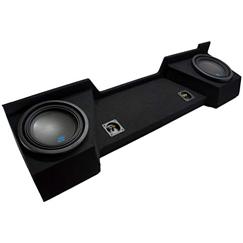 "Compatible with 2007 2008 2009 2010 2011 2012 2013 Chevy Silverado Ext Cab Truck Alpine S-W10D2 Type S Car Audio Subwoofers Custom Dual 10"" Sub Box Enclosure Package"