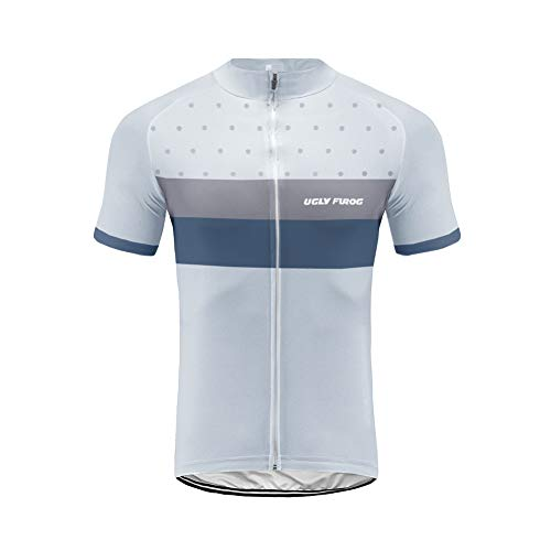 Uglyfrog Mens Cycling Jerseys Quick Dry Short Sleeve Cycle Tops Mountain Bike MTB Shirt Reflective Biking Bicycle Clothes Great Cyclist Gifts DC-UKHDXT06