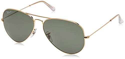 Ray-Ban RB3025 Aviator Occhiali da Sole Unisex Adulto, Oro (Gold 3025 Arista), 62 mm