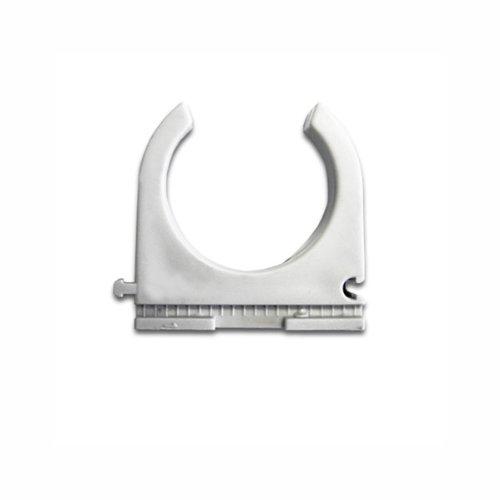 25 Stück Kopos Klemmschelle M32 32mm anreihbar Clippschelle für Stangenrohr aus PVC