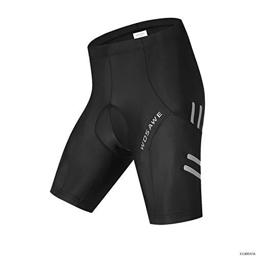 ZMMZZ Pantalones cortos de ciclismo, Reflectante 5D Acolchado Ciclismo Pantalones Cortos a prueba de Golpes MTB Bicicletas Pantalones Cortos de Bicicleta de Carretera