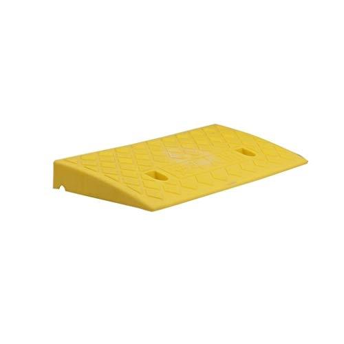 XUZgag - Almohadilla triangular antideslizante de plástico portátil para el hogar, motocicleta, coche, cuesta arriba, paspartú de hospital, banco, rampas de umbral de 5 cm/7 cm/11 cm, almohadilla segura para cuesta arriba, plástico, Amarillo, 50*22*5CM