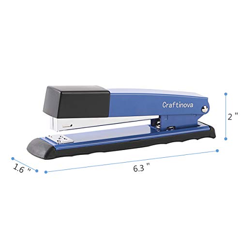 Craftinova Stapler,Office Stapler,Durable Metal Stapler ,20 Sheet Capacity,Includes 2000 Staples & Stapler Remover,3PACK,for Office or Home Office Supplies, Blue…… Photo #2