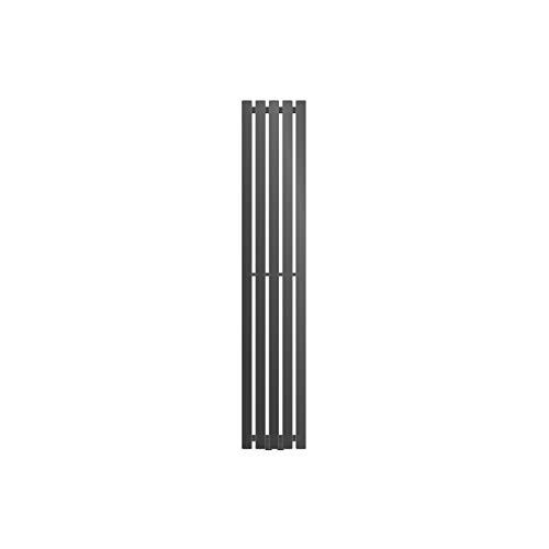 ECD Germany Radiador de panel Stella - 260 x 1400 mm - Antracita - radiador vertical - Radiador toallero agua calefaccion - Calentador de baño - Calefaccion de pared - No eléctrico -