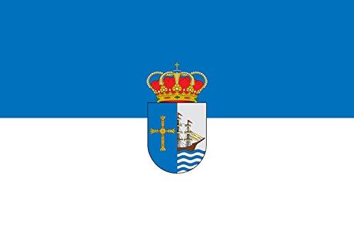 magFlags Bandera Large Municipal de Ribadesella Asturias | Bandera Paisaje | 1.35m² | 90x150cm