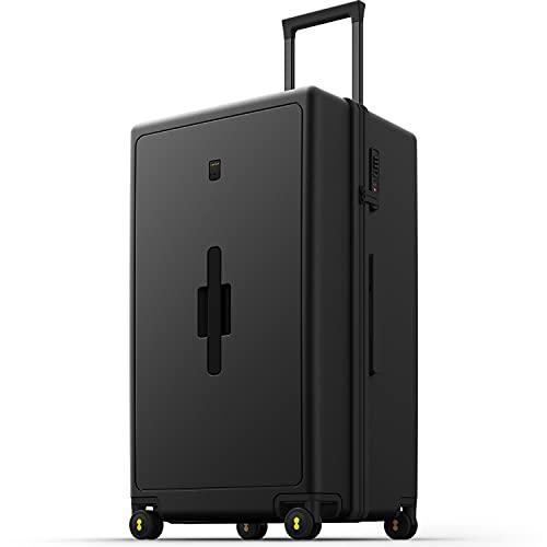 LEVEL8 Spinner Equipaje de Mano 75 cm, Maleta Grande de Viaje Rígida PC, Maleta de Equipaje con 8 Ruedas, Equipaje de Mano con Combinación TSA, 99L, Negro