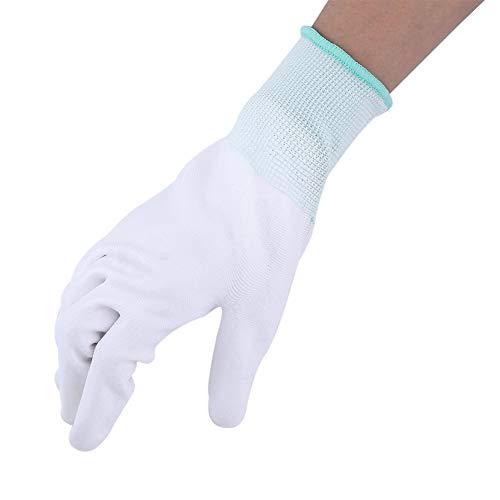 Walfront 1 Paar Anti-Statik Gleitschutz Handschuh PU Beschichtet Palm Anti-Rutsch Wearable Handschuhe für PC Computer Telefon Reparatur Sicherheit Arbeiten(M(Grün))