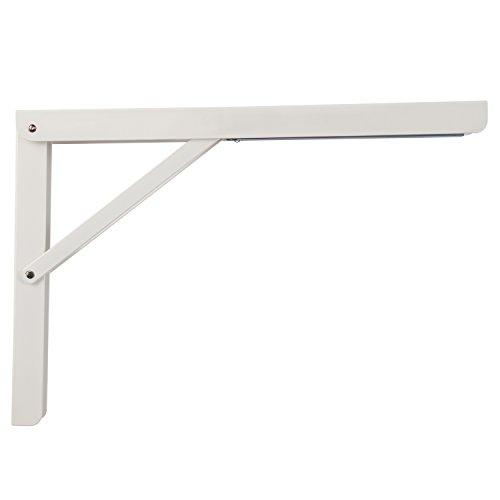 Schwerlast-Konsole Klappkonsole Tisch - Sitzbank Klappträger klappbar PROFI LINE | Metall weiß beschichtet | 400 x 36 x 270 mm | Tragkraft 180 kg | MADE IN GERMANY | 1 Stück - Klappwinkel für Wand-Montage