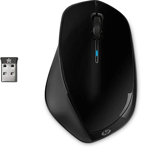 HP X4500 - Souris Laser Sans Fil Noir Métallisé (USB, 1600 DPI)