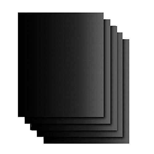 YU-CZ0 Set de Estera de Parrilla de 5, Barbacoa Antiadherente y tapetes para Hornear para Hornear en Gas, carbón, Horno y Parrillas eléctricas