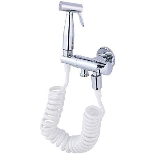 Almacenamiento de ducha Manguera de inodoro Rociador de bidé Kit de rociador de inodoro Juego de ducha sanitaria personal - Inodoro Pistola rociadora de tres vías de cobre completo Adecuado para baño
