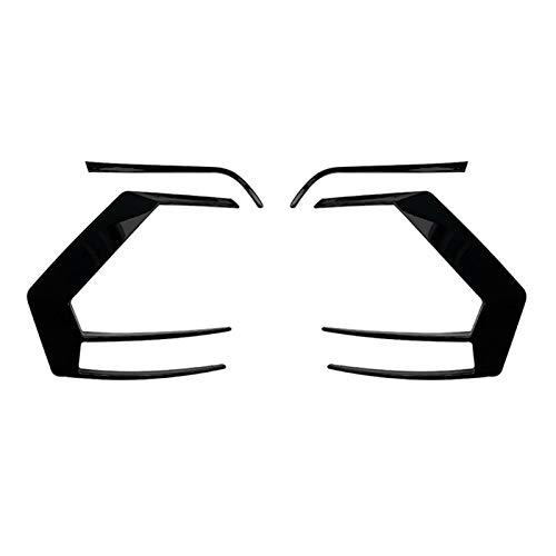 Rumors Cubiertas de la luz de la Cola de Coches Tapa de la lámpara Trasera Cubierta de Aire Ajuste para Golf 7 2012-2015 R400 Car Styling (Color : Black)