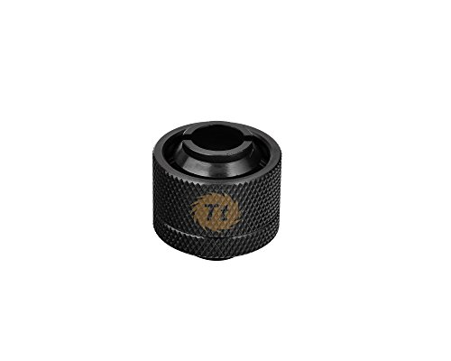 Thermaltake Pacific DIY LCS 1/2' ID x 3/4' OD Compression Fitting Black Cooling CL-W030-CA00BL-A