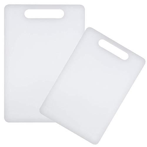 Space Home - Tagliere da Cucina in Polietilene - Tagliere in Plastica - 2 Pezzi - Colore: Bianco