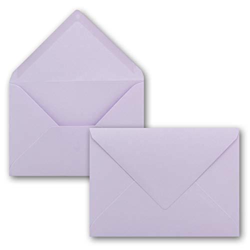 50 Brief-Umschläge - Lila - DIN C6-114 x 162 mm - Kuverts mit Nassklebung ohne Fenster für Gruß-Karten & Einladungen - Serie FarbenFroh®