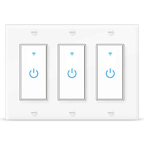 Smart Switch Alexa WiFi Light Switch 3 Gang Wireless Light Switch Compatible with Alexa and Google Home