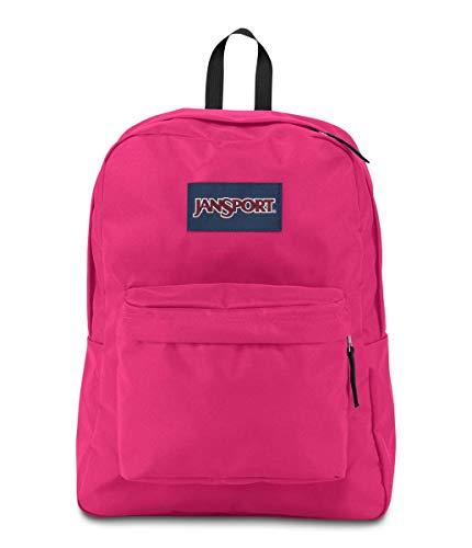 JanSport SuperBreak Backpack - Lightweight School Pack - Bright Beet, One Size