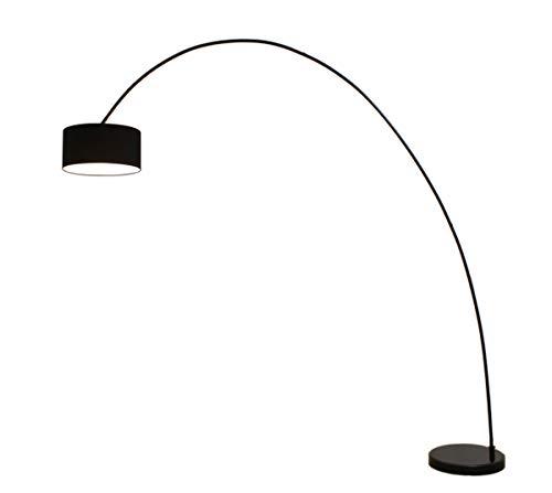 Bogenleuchte Elegant Arc black, Ausladung 222cm, Höhe 225cm, 10454