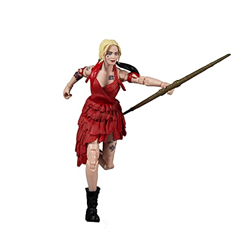 McFarlane Toys 15431-3 DC Build-A 17,8 cm Figuren WV5-Suicide Squad Movie Harley Quinn, Mehrfarbig