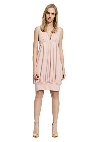 Folly-Mode Damen Mittellanges Kleid Dress Abendkleid tiefer V-Ausschnitt mit Raffungen Gr. S M L XL...