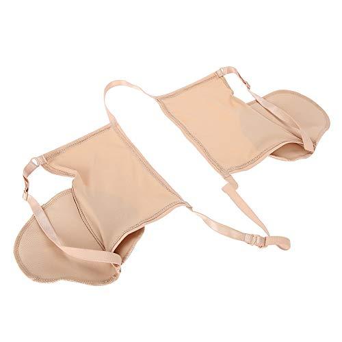 Herbruikbare oksel-zweetpads van katoen in de huid, zweetabsorberende onderarm-beha met elastische band.