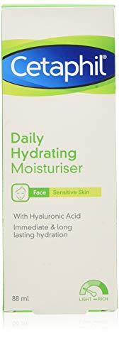Cetaphil Feuchtigkeitsspendende Feuchtigkeitspflege, 88 ml, leichte Gesichtspflege, für empfindliche Haut, parfümfrei, mit Hyaluronsäure
