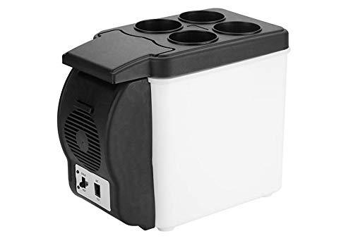 Wacent 12V 6L Refrigerador portátil para automóvil, Mini refrigerador multifuncional para alimentos, bebidas, calentador, refrigerador, suministros Almacenamiento