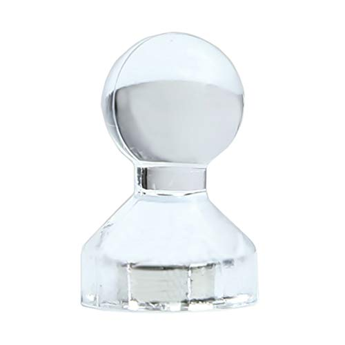 HaftPlus - 50 Stück Magnete für Magnettafel, Extra starke neodym Magnete für Büro und Schule - Transparente Whiteboard Magnet für Kühlschrank, Notenständer, Schultafel