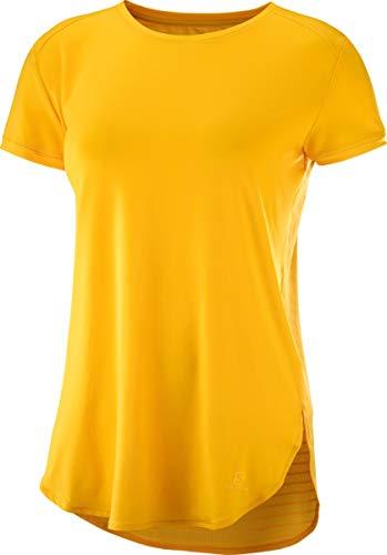 SALOMON Comet Breeze W Camiseta de Manga Corta, Mujer, Amarillo (Saffron), M