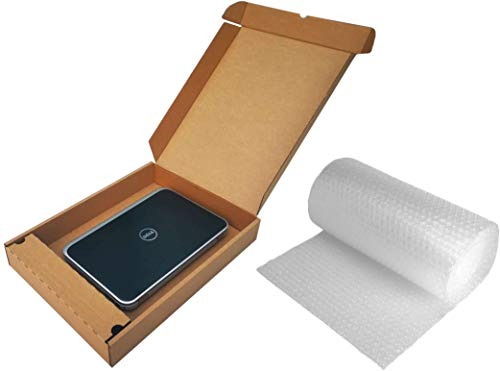 Laptop Shipping Box & Charger Locker Strong Cardboard 51x38x7cm + 3m Bubble WRAP